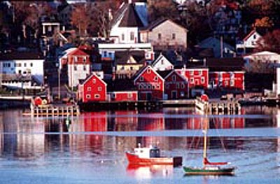 Partial view of the Old Town Lunenburg.